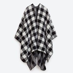 Zara Accessories | Buffalo Check Poncho Wrap EUC M